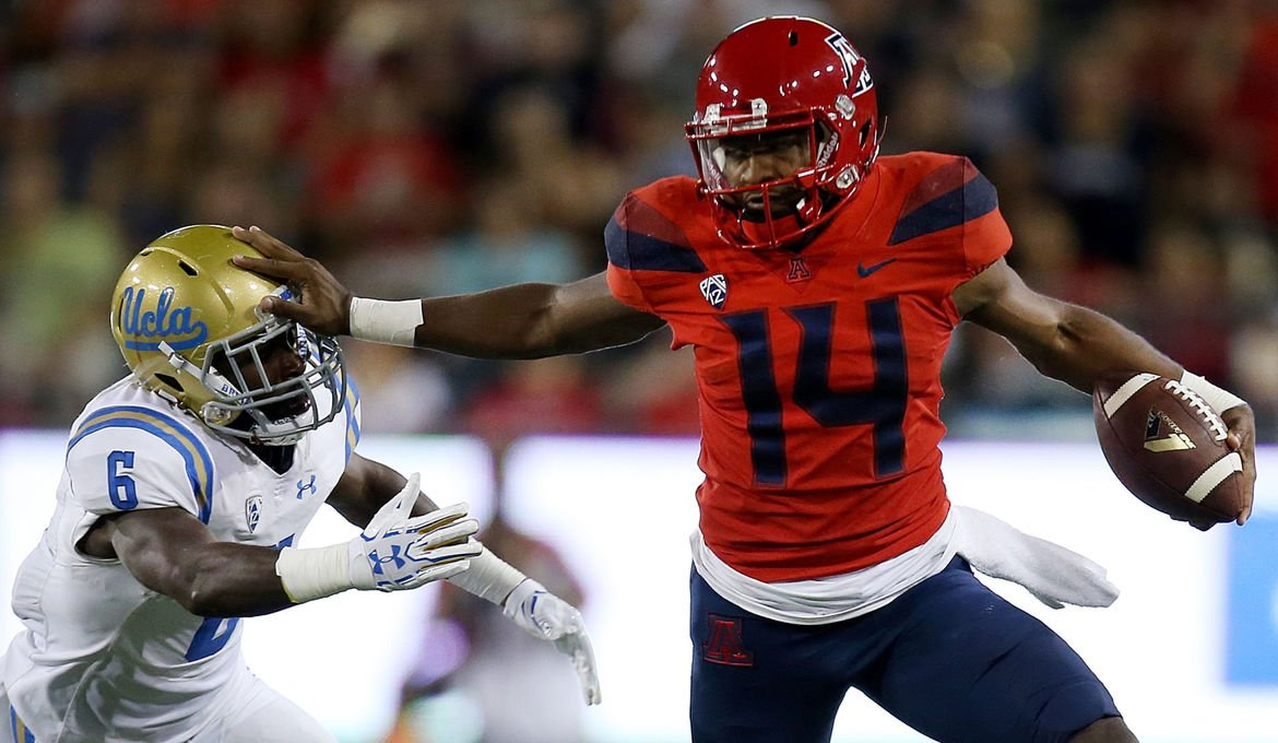 Arizona Wildcats QB Khalil Tate wins Pac-12 honor for second week in a row https://t.co/SbWNMTFyo1