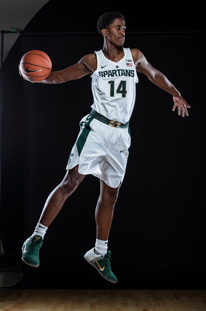 Brock Washington Michigan State Spartans Basketball Jersey - Green