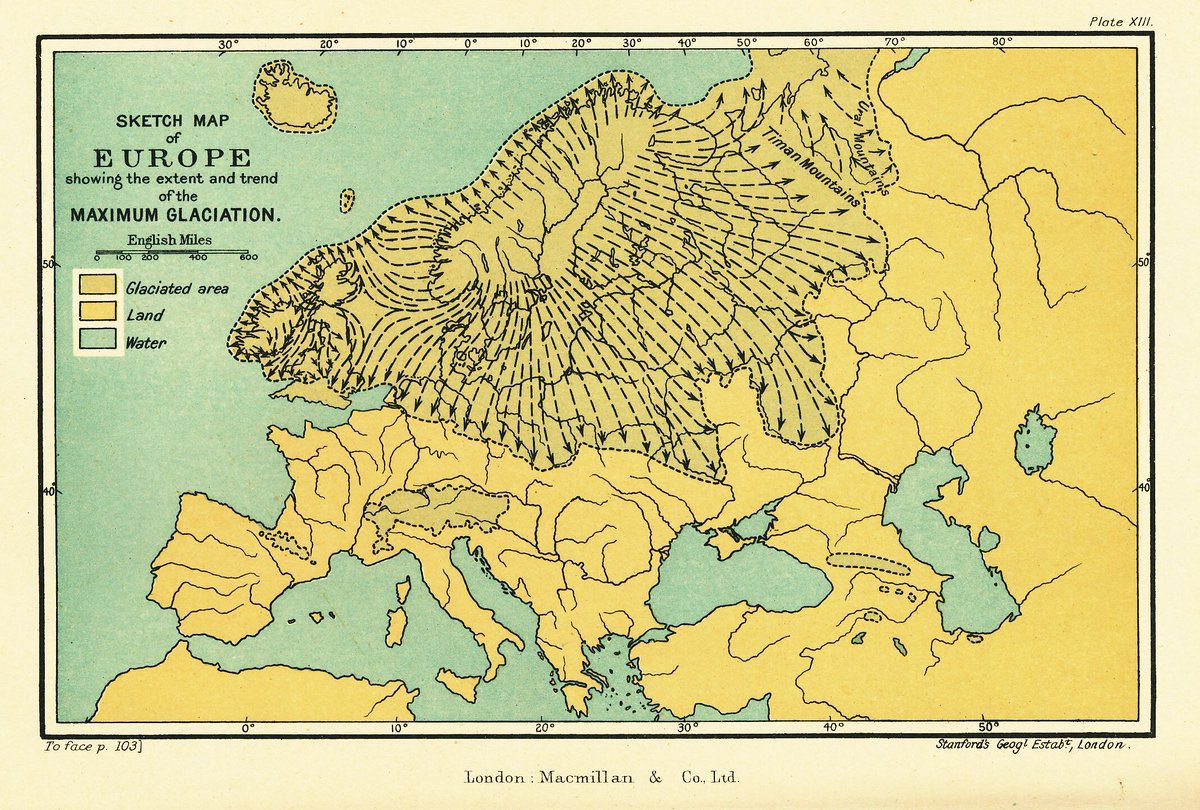 The Ice Age On Twitter Map Of Europe Showing The Extent Of The