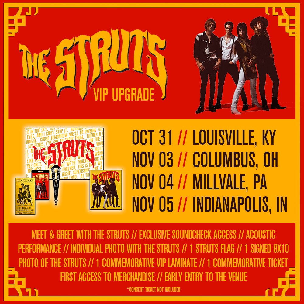 The Struts On Twitter Excited To Announce New Vip Upgrades For A
