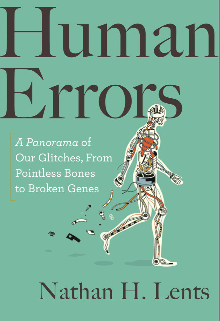 Tweeps, meet my new book, #HumanErrors, out May2018. What do you think of the cover art? I say they nailed it! #evolution #anthropology<br>http://pic.twitter.com/65HRhWqBlv