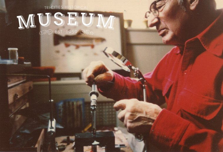 Our #mcm is George Barnard, local fly tying expert! #tchm #museumcollection #fishing #flytying #1980s #sofly #sportsman <br>http://pic.twitter.com/bodxsmybcJ