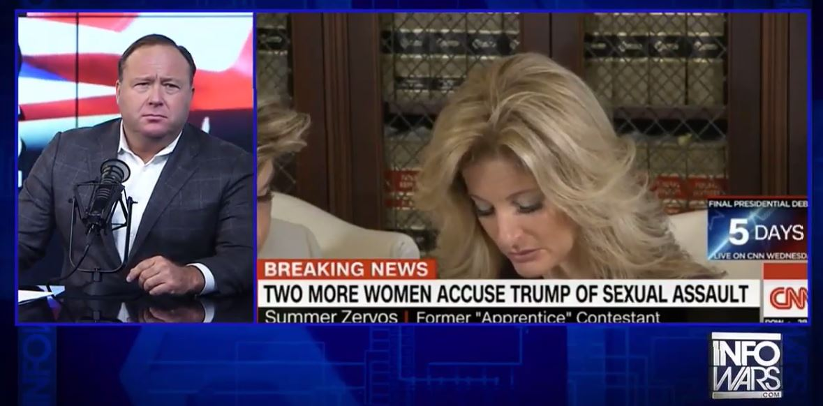 """This is really bad acting' -- Alex Jones attacks Summer Zervos for speaking out about being assaulted by Trump: https://t.co/mq0EWnWloV"