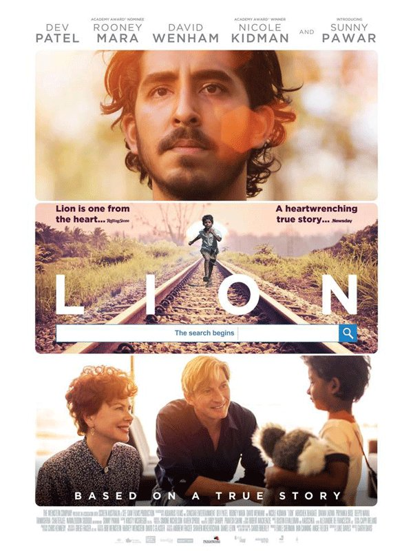 NEW REVIEW - A True Story About Saroo Meaning #Lion  https:// 2eyes1screen.wordpress.com/2017/10/16/lio n-film-review-2017/ &nbsp; … <br>http://pic.twitter.com/Sl2ZPrDuUT