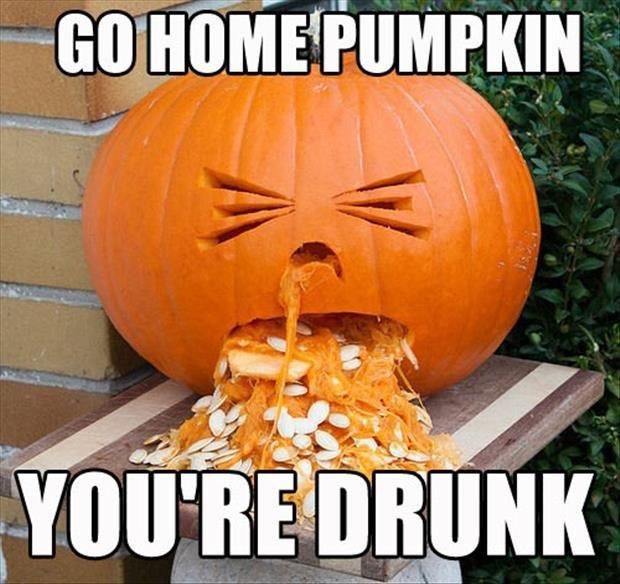 You&#39;re #drunk &amp; that&#39;s gross! GO HOME #PUMPKIN. But clean up that mess first.  . #halloween #BeerOClock #jackolantern #pumpkincarving<br>http://pic.twitter.com/MNsjB3HggX