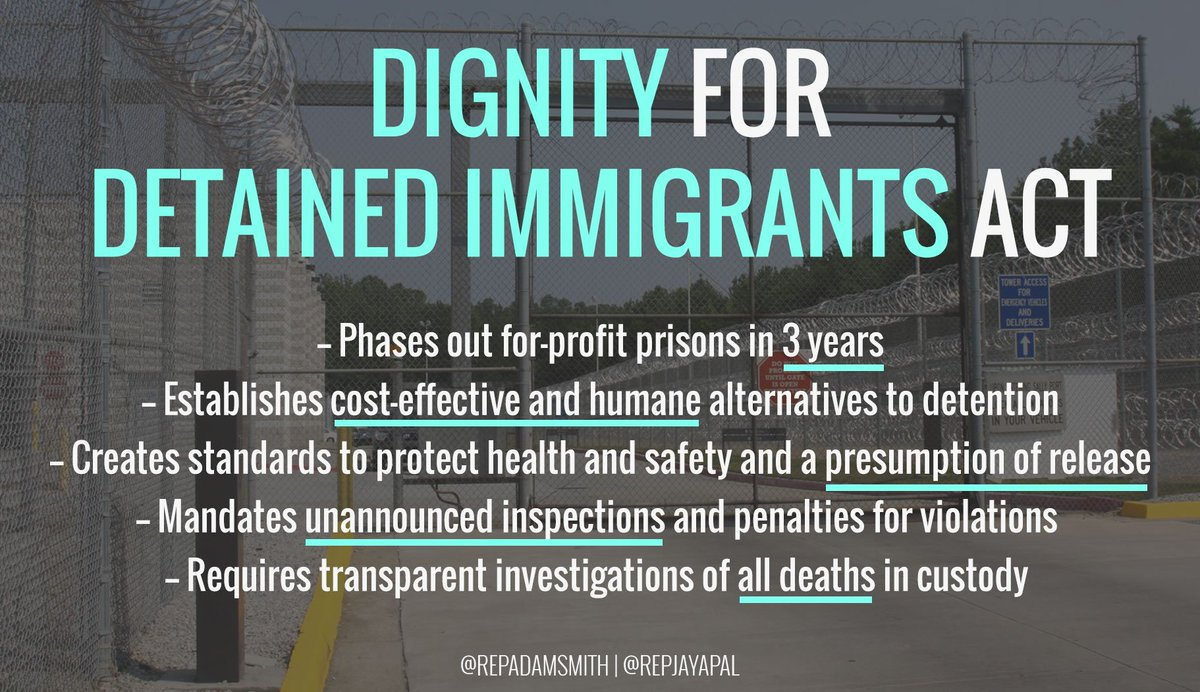Image result for dignity for immigrants in detention act