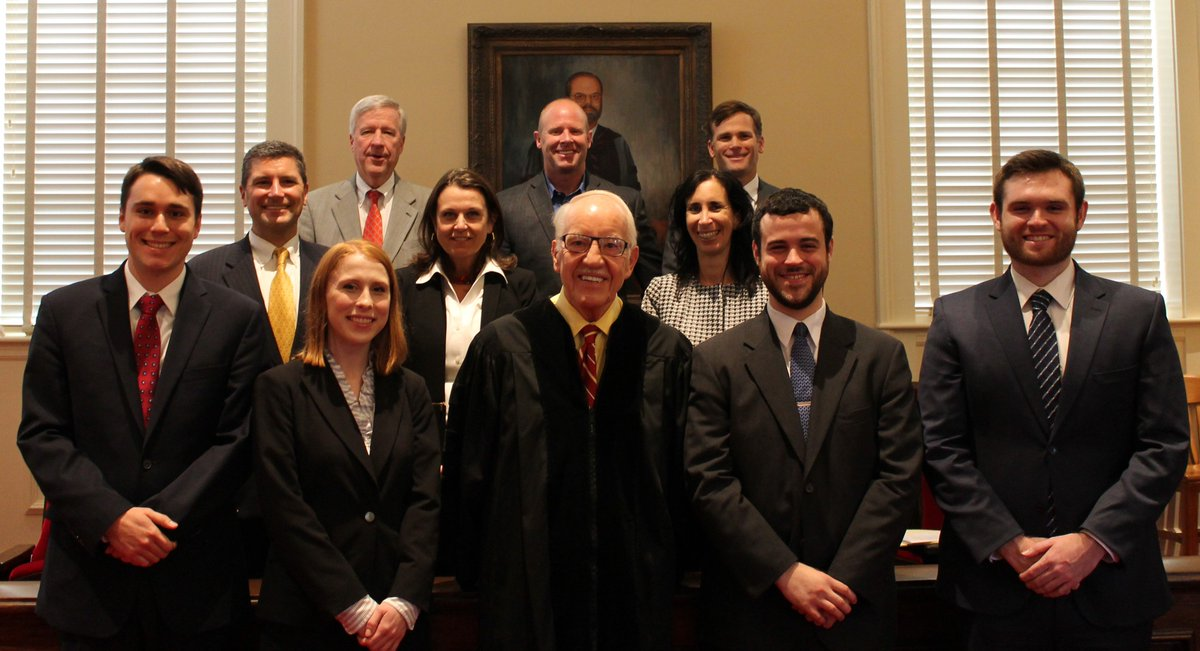 Congrats to Jennifer Cotton &amp; Adam Wittenstein winners of our 2017 J. Melvin England #MockTrial Competition &amp; big thanks to all our judges! <br>http://pic.twitter.com/oeTefPJJ2Z