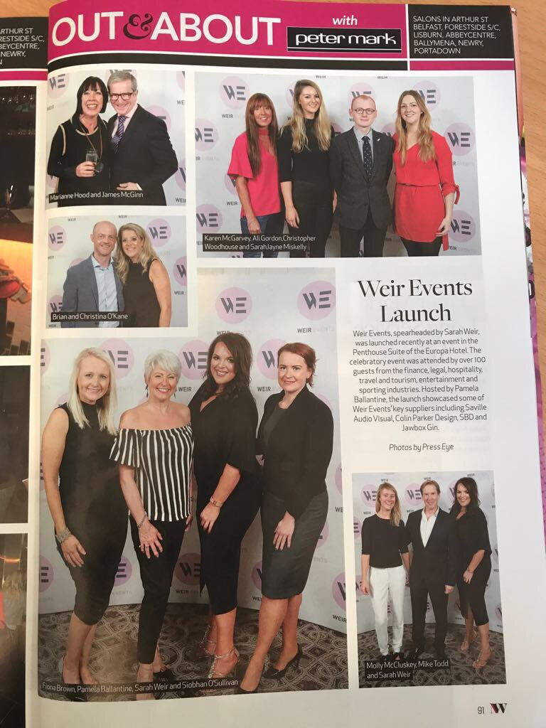 Thank you @NorthernWomanNW for featuring #WeirEvents launch in this months magazine. #Weirlaunched #events #eventprof #EventPlanner <br>http://pic.twitter.com/7oLML5e7QJ