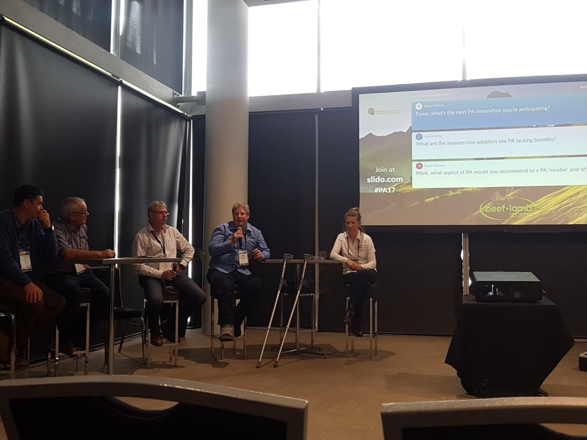 Leading farmers say ROI, telco issues, tools knowledge &amp; upskilling agros r next steps 2 try &amp; increase #PA adoption #PA17 @PrecisionAg2017<br>http://pic.twitter.com/NR2HdVXNYy