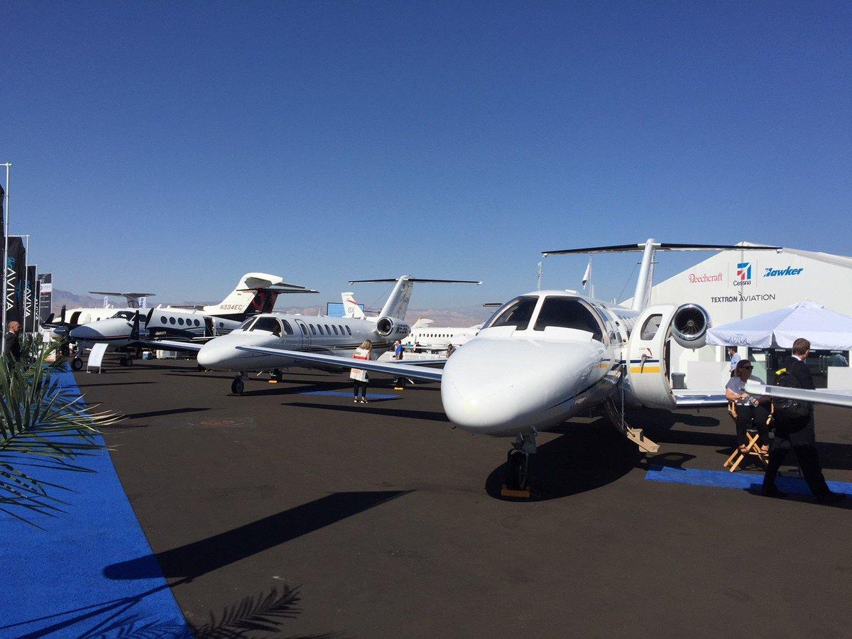 Nice #NBAA17 Aircraft Static Display @TextronAviation @Cessna @Beechcraft<br>http://pic.twitter.com/VGRpCivJL0