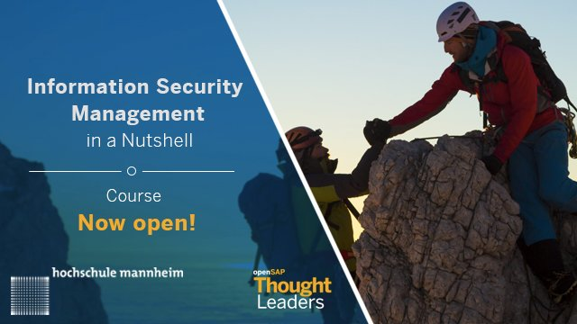 #InformationSecurity Management is the new discipline in organizational management. Join this free #MOOC  http:// spr.ly/60128fve4  &nbsp;  <br>http://pic.twitter.com/pDKrBqYmiD