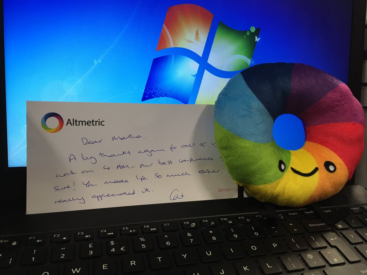 Looks who&#39;s just landed on my desk and made my week #whyidowhatido #thankyou #altmetric #4amconf<br>http://pic.twitter.com/YxwfAkimSk
