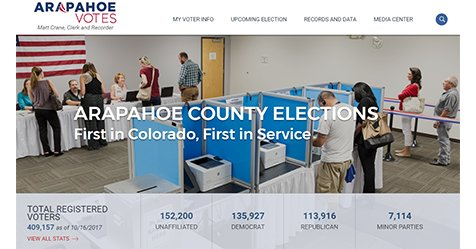 Introducing our new and improved #Elections website for @ArapahoeCounty at  http://www. ArapahoeVotes.com  &nbsp;  . #mobile #interactive #waycool #webdesign<br>http://pic.twitter.com/9rzfvXUvH0