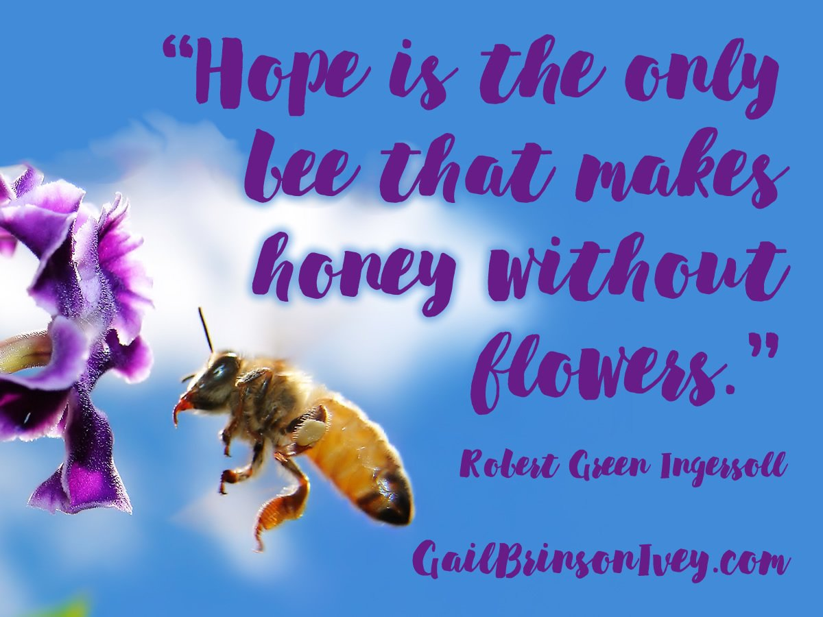 Honey Bee replaced by: HOPE #hope #indieauthor <br>http://pic.twitter.com/0e86PBTRGg