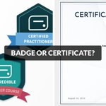 'When should you use a #DigitalBadge versus a Digital Certificate? We've got your answer' - @Accredible https://t.co/E1Fv7IWRML