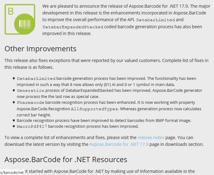 #MacroPdf417 #Barcode #Recognition &amp; #Databar Barcode #Generation Processes are Enhanced inside #dotnet Apps:  https:// goo.gl/oxZSMr  &nbsp;  <br>http://pic.twitter.com/XMkbjdAY3d