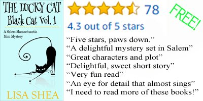 Free! This delightful Cozy Mystery set in October in #SalemMA features a Lucky Black Cat!  http://www. amazon.com/Lucky-Cat-Blac k-Massachusetts-Mystery-ebook/dp/B00O3841BO/ &nbsp; …  #CR4U #IARTG #IAN1 <br>http://pic.twitter.com/WxT57HxPgh