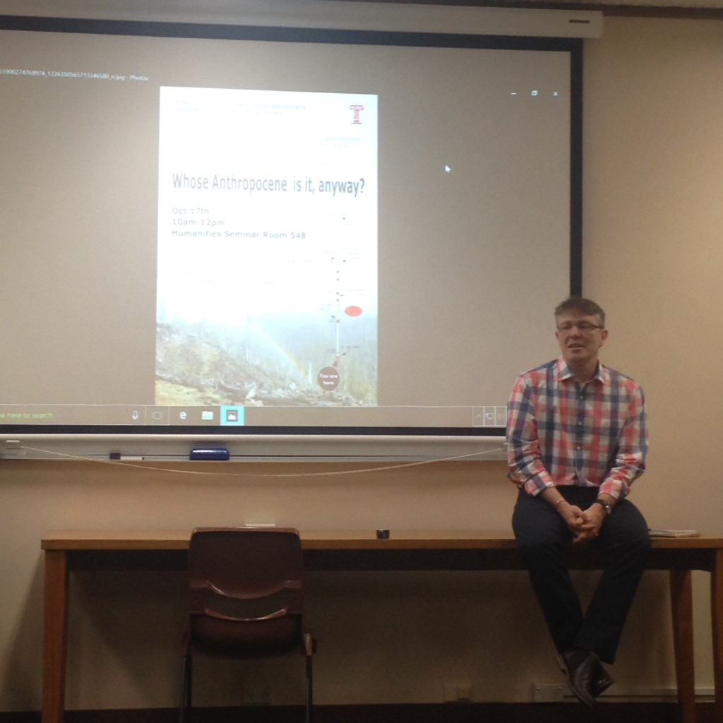 Whose #Anthropocene is it anyway? Workshop by #PECS at @UTAS_ today @Enviro_Chnge @UTASEnglish<br>http://pic.twitter.com/He6bx3X0c4