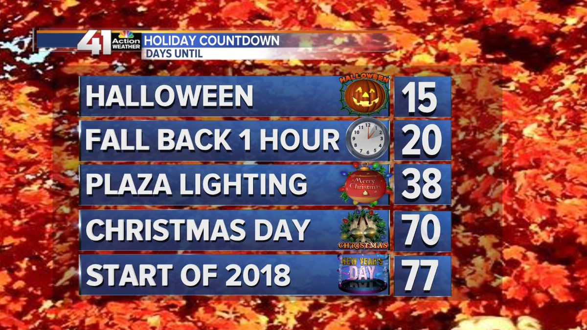 "Gary Lezak on Twitter: ""Only 70 more days until Christmas! Here is your weekly update. We have your updated forecast on @41actionnews tonight!… ..."