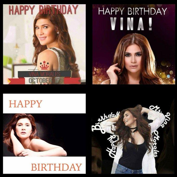 Happy birthday Vina Morales!