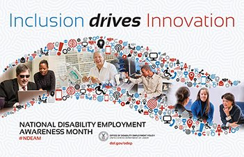 October is National #Disability Employment Awareness Month, learn more about @USDOL&#39;s 70 year old mission at  https://www. dol.gov/odep/topics/nd eam/index.htm &nbsp; …  #NDEAM<br>http://pic.twitter.com/ZFEpCRuijN