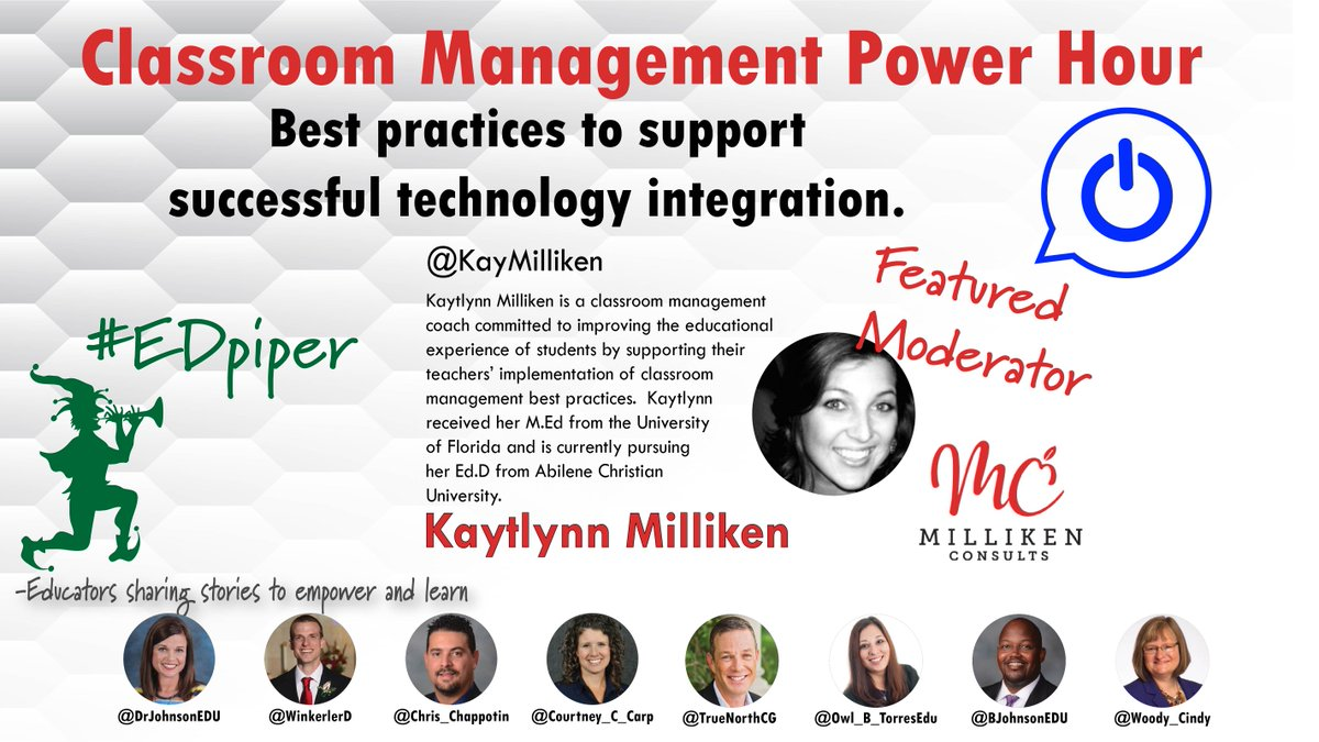 Join #EDpiper next week as we talk about #classroom #management with @KayMilliken.<br>http://pic.twitter.com/LnZytaQfzI