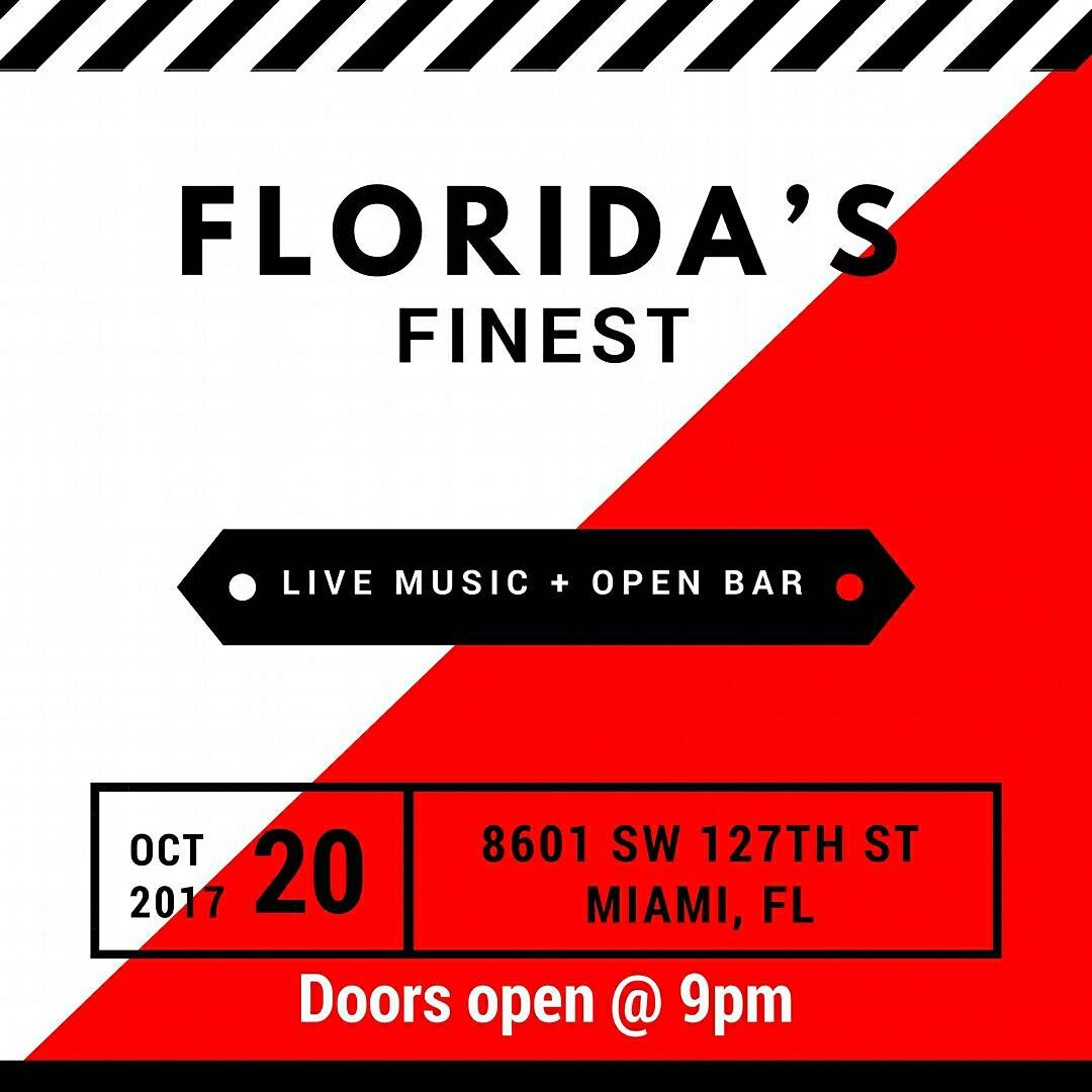 Friday Oct 20th #FloridasFinest that right column line up looking like a 15 city tour, wyd?