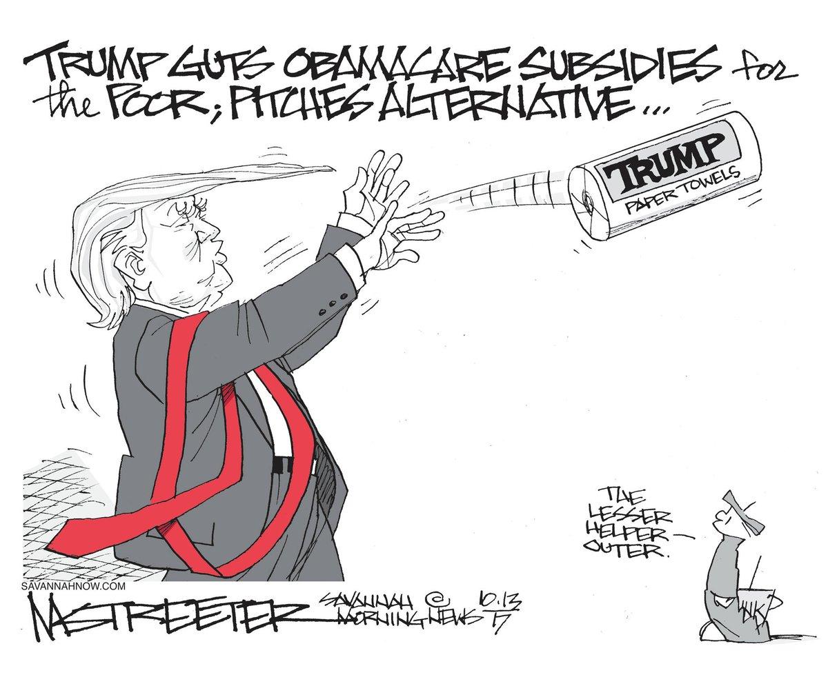 #StreeterCartoon: Trumpcare: https://t.co/bA5yMhXiHm | #Savannah