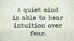 A quiet mind is able to hear intuition over fear. #quietyourmind #listen #trustyourgut<br>http://pic.twitter.com/KNF4hToF8M