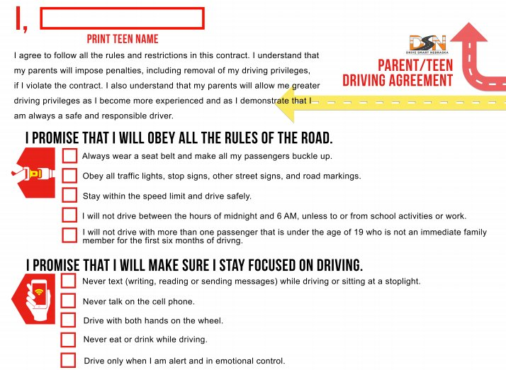 Parents create a teen driving contract listing rules &amp; consequences 4 ur teen driver. Hang the signed contract in a visible place. #sample <br>http://pic.twitter.com/hZYm4UAzbV