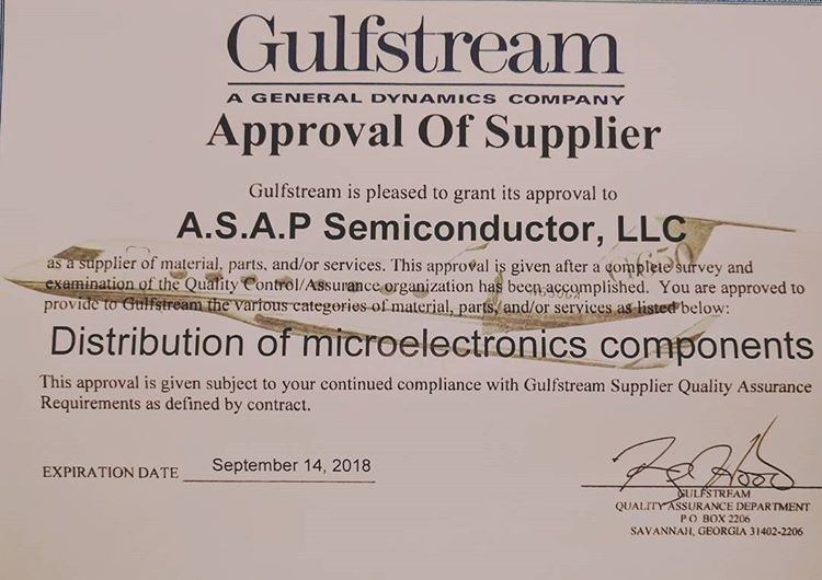 Another success story for ASAP!! #ASAP SemiConductor receives #Quality #Assurance #Certification from #Gulfstream  https:// goo.gl/BTiAPw  &nbsp;  <br>http://pic.twitter.com/I1TrtIkveQ