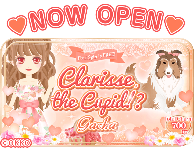 [Decoding Desire] New Gacha: &quot;Clarisse The Cupid!?&quot; is NOW OPEN! This time, it&#39;s Clarisse who&#39;s the boss!? First spin is FREE!  #OKKO #Otome #Otomegame #gacha #visualnovel #romance<br>http://pic.twitter.com/6s7L0CdMxF