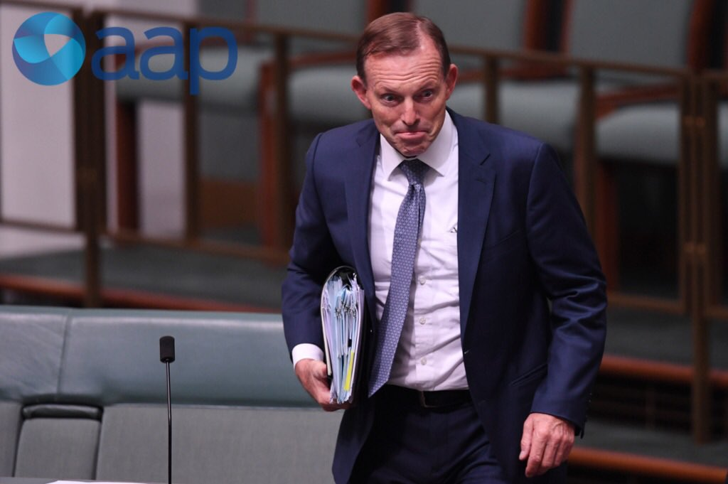 Former PM Abbott arrives for #questionti...