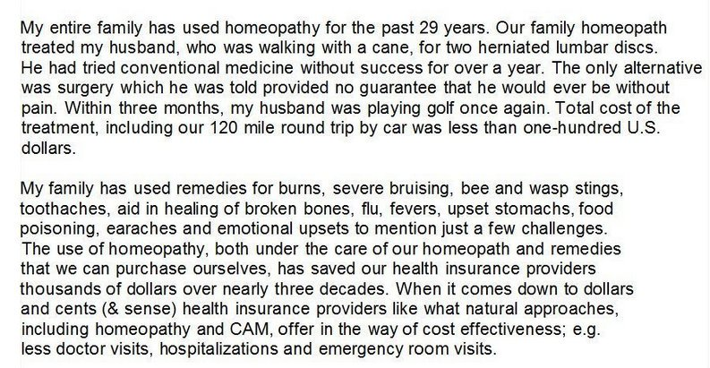 For a homeopath