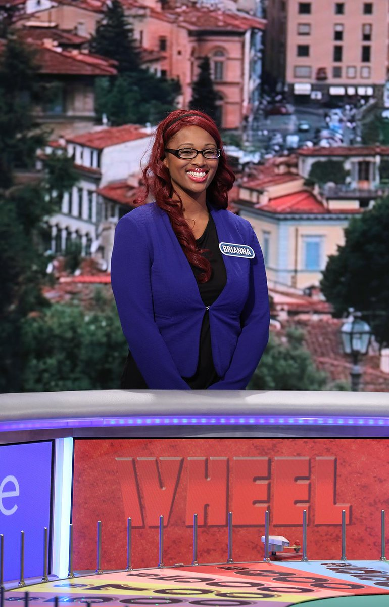Brianna Chestang from #Palmdale is spinning the @WheelofFortune tonigh...
