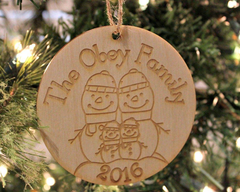Snowman Family Ornament, Custom Family Name Christmas Ornament, Personalized Christmas  https:// seethis.co/nRMVba/  &nbsp;   #epiconetsy #buzzfeed <br>http://pic.twitter.com/yJ1O01ofua
