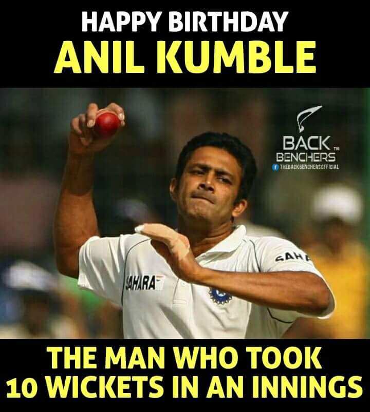 Happy Birthday Magician ... Anil Kumble ....