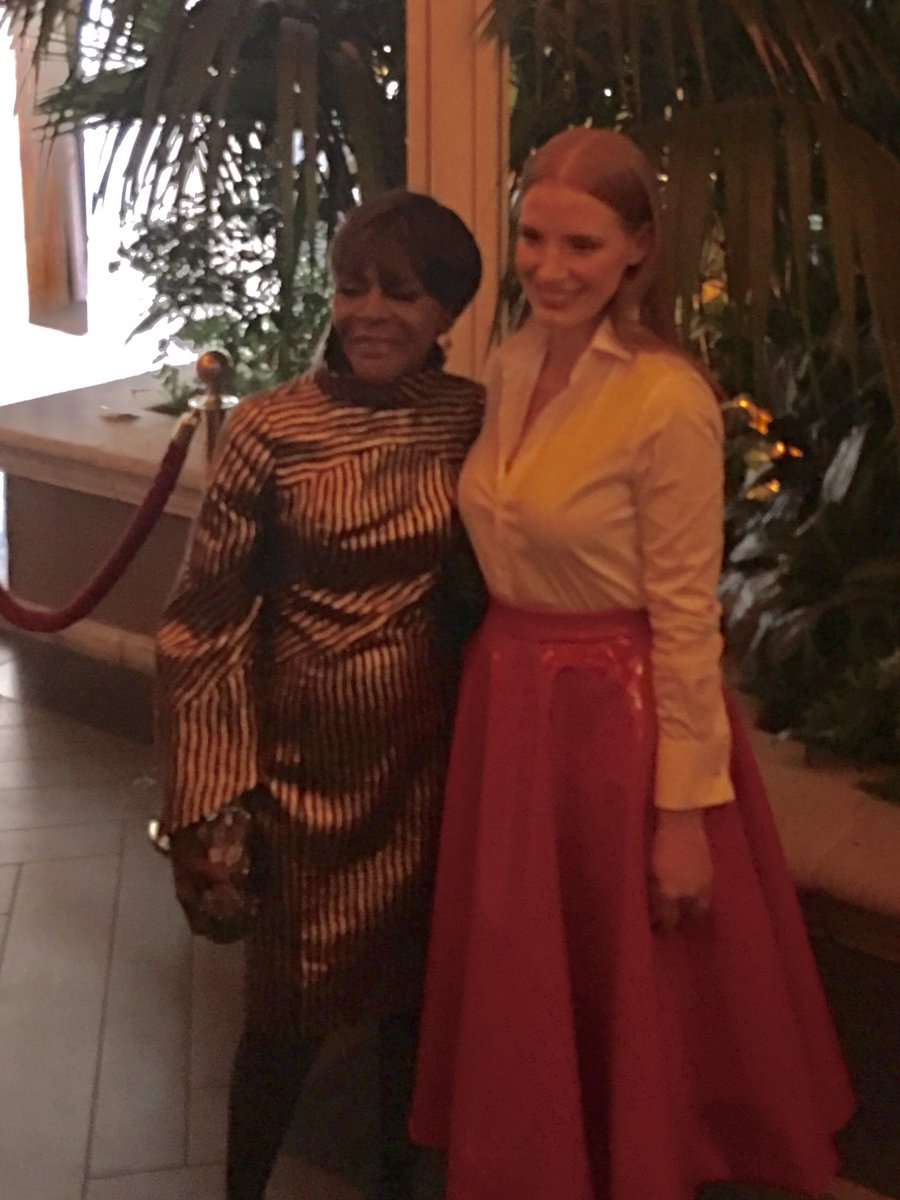 Cicely Tyson and Jessica Chastain arriving at Elle Women In Hollywood...