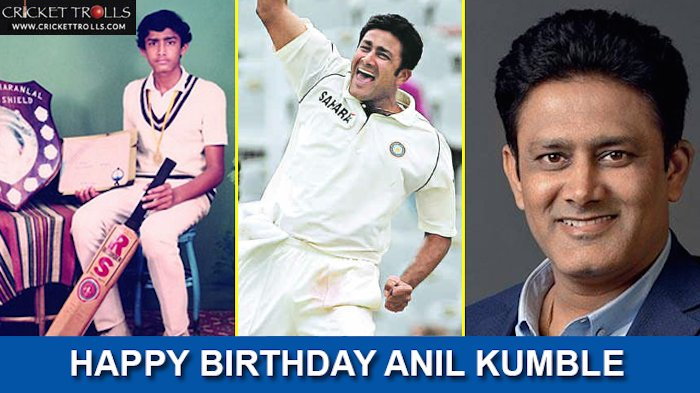 Happy Birthday Anil Kumble The best bowler of Indian Test cricket history!