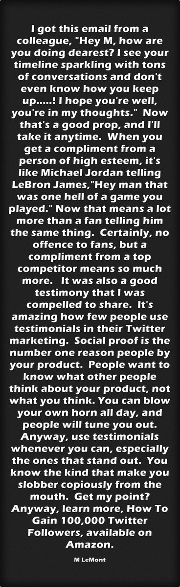 Why You Should Use Testimonials. Ask Me Anything. https://t.co/hzpxEkbK6I #Howtouse #Twitter #GainMoreFollowers #SMM
