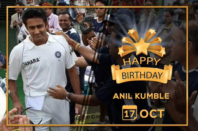 Happy birthday        Sir kumble