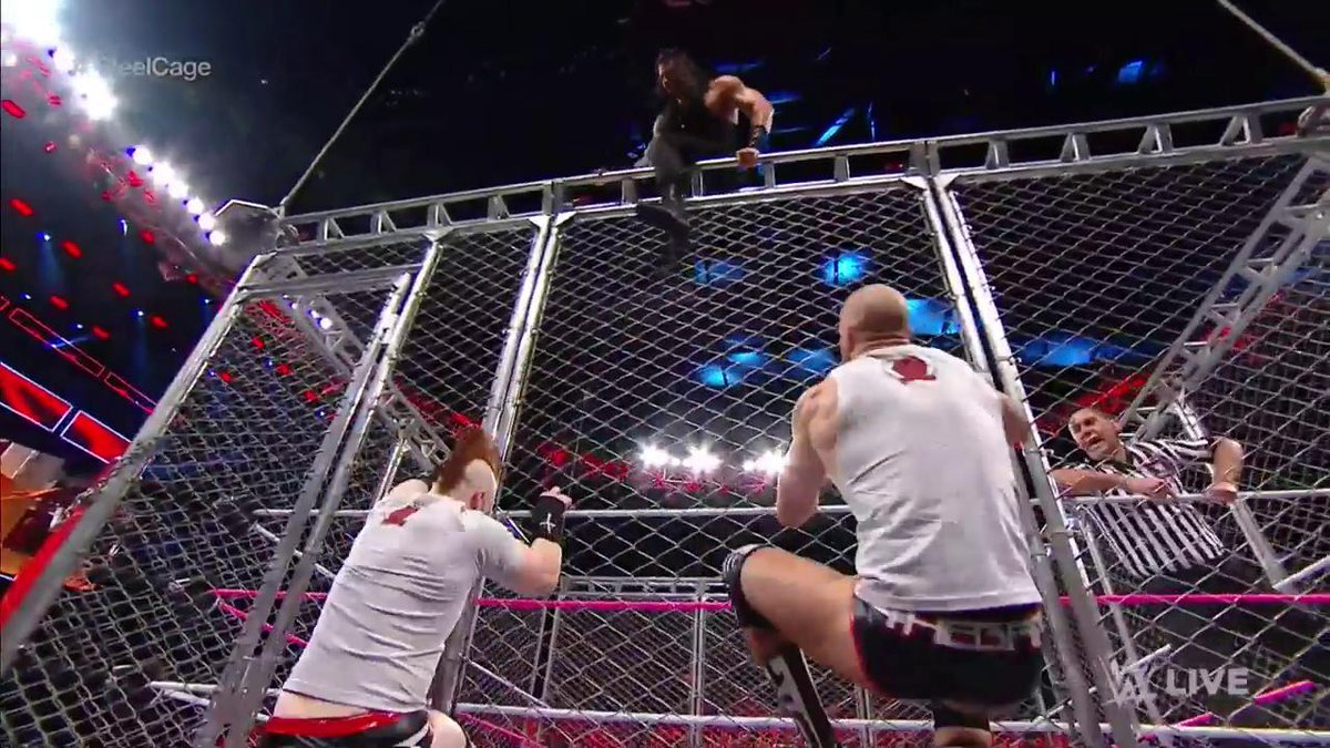 It's time to escape the #SteelCage for @WWERomanReigns...but we've got...