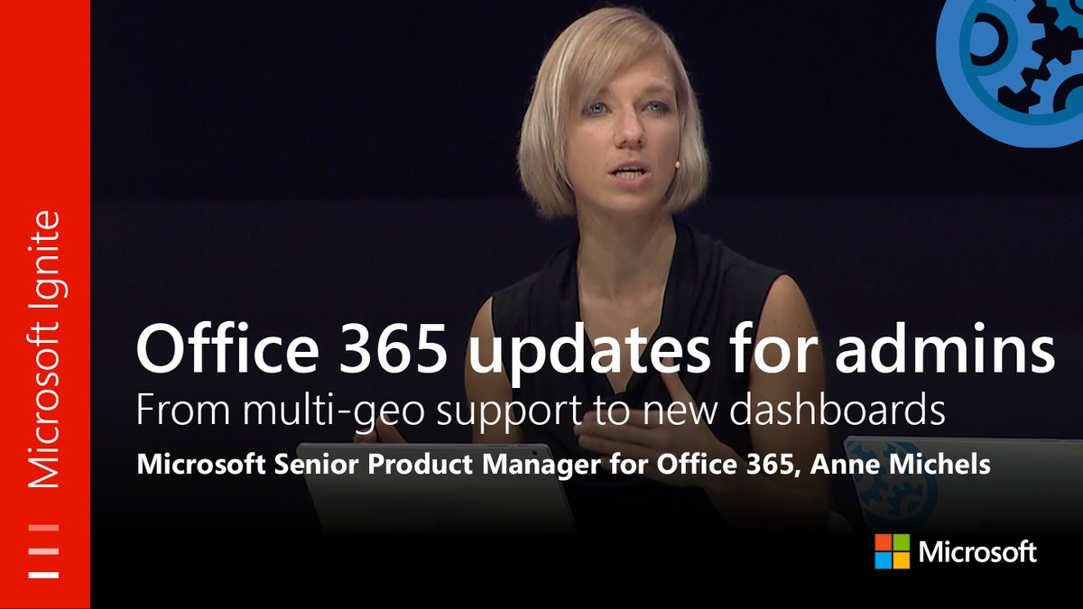 From #MSIgnite: #Office365 updates for admins: Multi-geo to new dashboards. Watch full session:  https:// youtu.be/UBUt8cJ5_xk  &nbsp;  <br>http://pic.twitter.com/Yj6A7RwgDN