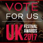 We've been nominated for 'Best MAJOR Festival' at the UK @festival_awards 2017. Please vote for us here 👉https://t.co/1vpQaYB5Mg