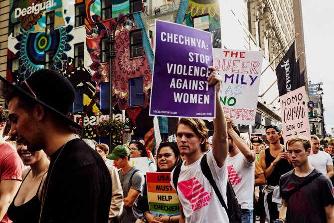 See striking images from the Voices 4 Chechnya march in New York City https://t.co/QUOLMM4hL6 https://t.co/pgs4F1RbND