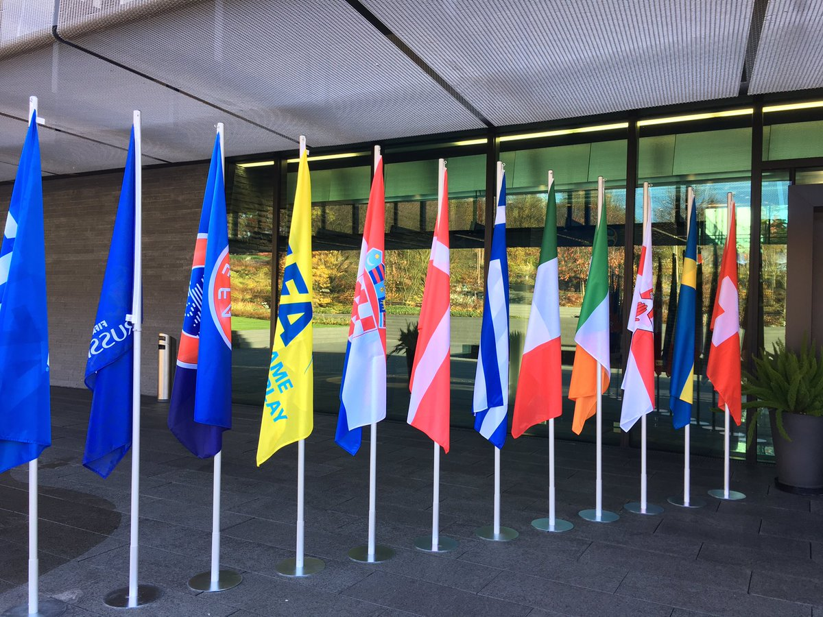 Flags ✅   World Cup play-off draw at 1pm/UK this afternoon.  #SSN #FIFA