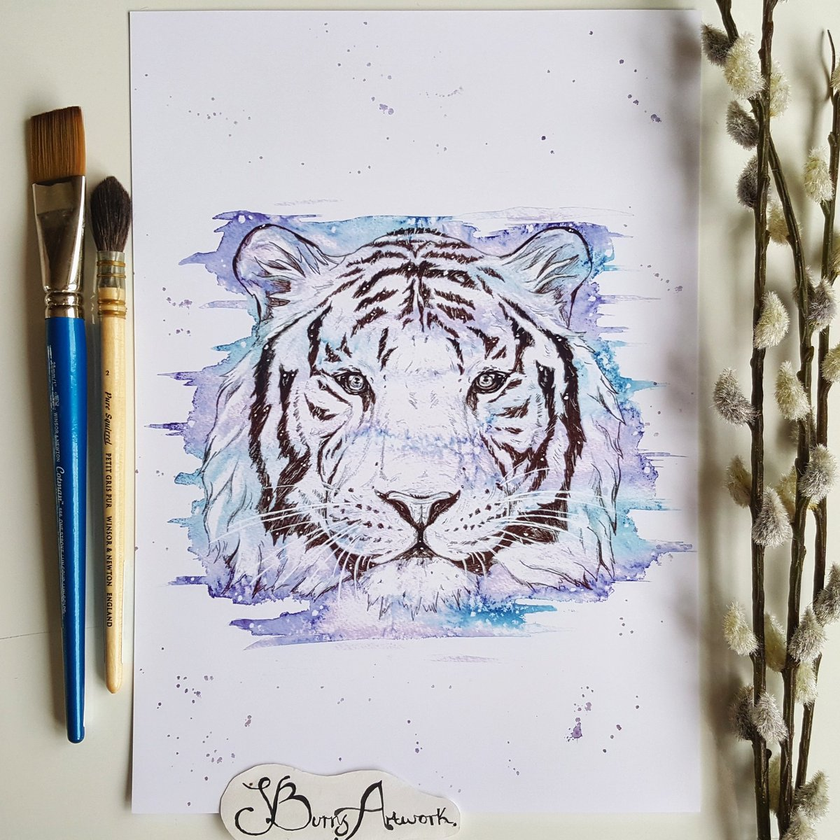 It&#39;s #charitytuesday Please donate to @WWF to help save tigers and other endangered species. #savetheplanet  Shop-   https://www. etsy.com/uk/shop/Sburns Artwork &nbsp; … <br>http://pic.twitter.com/FiKIpPvsVS
