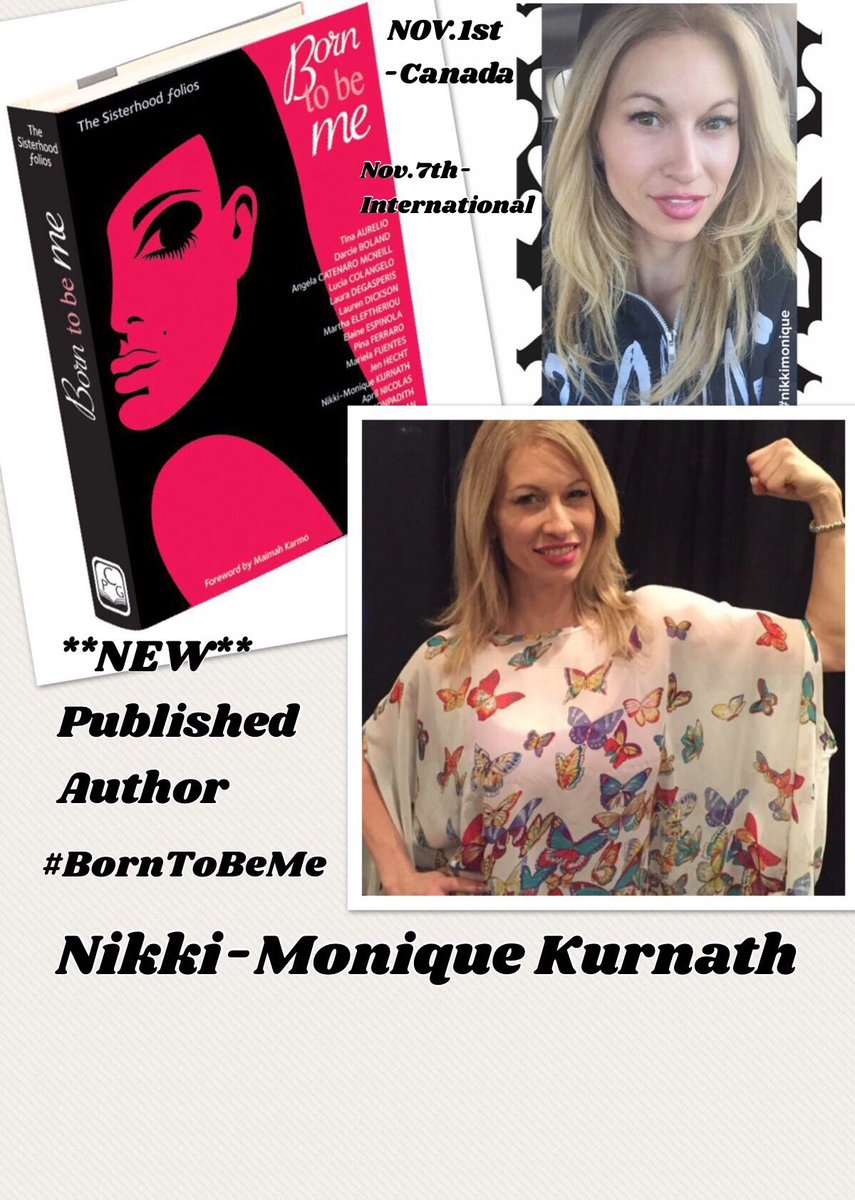 My 1st Published Book is coming! 📕NOV1st-CDA and NOV7th-International #NikkiMoniqueKurnath #BornToBeMe #sexualassault #rape #MeToo #speaknow