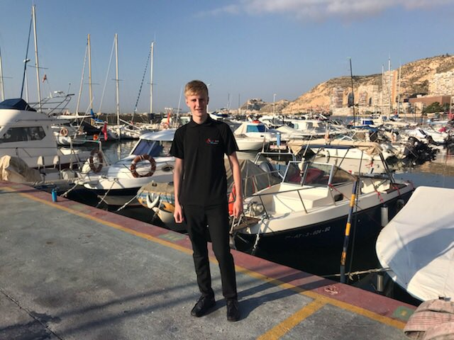 Will is very pleased with his work experience location in Alicante! #MFL #resilience