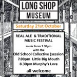 Looks like a good weekend ahead. Hope to see you @LongShopMuseum - great music and beer .